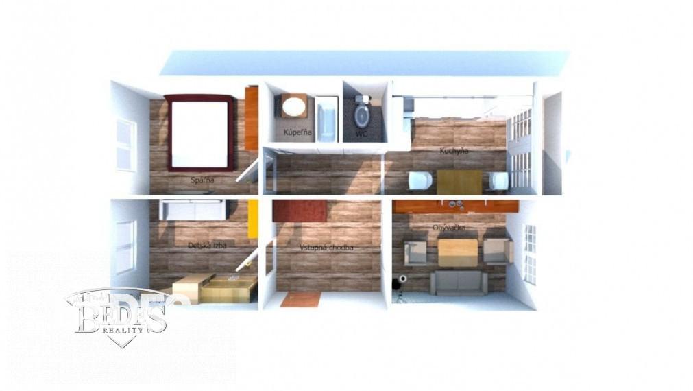 BEDES   Najlacnejší 3 izbový byt vhodný na rekonštrukciu